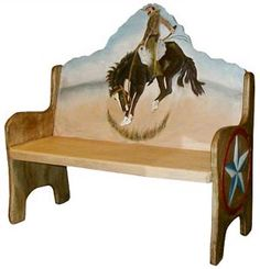 The perfect combination of beauty and utility, this stunning cowboy bench will add color and charm to any seating area. Hand carved and hand painted by highly skilled artisans in central Mexico, these benches are heirloom-quality, to be passed down from one generation to the next. So summon the interior designer from within, and create a fabulous new space in your home with this striking cowboy bench as the centerpiece.
