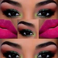 Image result for black women with black eye shadow make up
