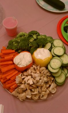 Homeade veggie tray for baby shower!!!!