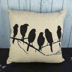 YONTREE1 PC Bird/Bike European Pillow Case Linen Decorative Pillow Cover