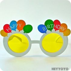 Vintage Happy Birthday glasses $4.50