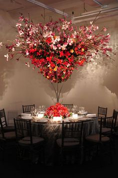 wonder if i could do this with a large branch, spray paint it silver & decorate with tulle and little lights?