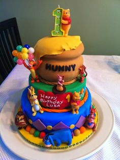 Inspired Photo of Winnie The Pooh Birthday Cake . Winnie The Pooh Birthday Cake Winnie The Pooh First Birthday Cake Cakecentral Crazy Cakes, Winnie The Pooh Cake, Winnie The Pooh Birthday, Halloween Food For Party, Halloween Cakes, Halloween Desserts, Halloween Halloween, Pasteles Cake Boss, Boys First Birthday Cake