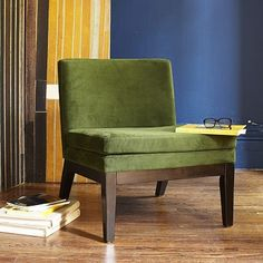 Slipper Chair - Solids #WestElm