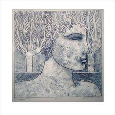 Monoprint by Pawel Krol Gelli Plate Printing, Etching Prints, Drawing Sketches, Drawings, Gelli Arts, Aboriginal Art, Old Art, Printing Process, Printmaking