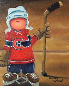 Hockey Crafts, Hockey Decor, Hockey Drawing, Art Fantaisiste, Hockey Logos, Happy Paintings, City Illustration, Wood Canvas, Pastel Art
