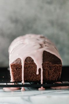 Tuck into a slice of rich Chocolate Olive Oil Cake with Blood Orange Glaze. A touch of tart sweetness from the glaze is the perfect thing to balance the dark, bittersweet chocolate. #chocolate #bloodorange #oliveoil #cake