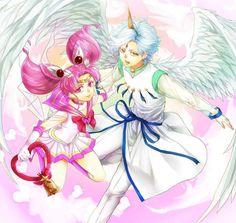 Sailor Chibi Moon & Pegasus Helios & Chibiusa by ゆーか Chibiusa And Helios, Moon Drawing, Moon Images, Sailor Chibi Moon, Samurai Armor, Old Anime, Sailor Scouts, Magical Girl, Fan Art