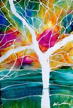 "Daily Paintworks - ""Landscape - Original Fine Art for Sale - © Kristen Dukat Alcohol Ink Painting, Alcohol Ink Art, Internet Art, Cute Paintings, Creative Artwork, Pretty Art, Fine Art Gallery, Landscape Art, Amazing Art"