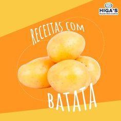Ainda não sabe qual o cardápio de hoje? O Higa's te ajuda, a batata é um ingrediente versátil e que combina com diversos pratos. Confira em nosso site algumas receitas: http://www.supermercadohigas.com.br/cheff-higas Hoje é dia de hortifrúti vem buscar as suas! #higassupermercados #supermercadohigas #vemprohigas #mercado #ofertas #produtos #muitobom #vamoquevamo #naoperca #receitas #batata #receitascombatata #cozinhar #cozinha