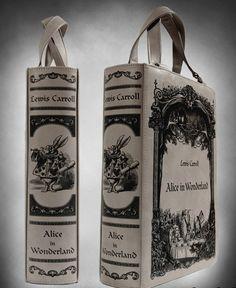 Steampunk Alice In Wonderland Book Bag - Purses & Handbags