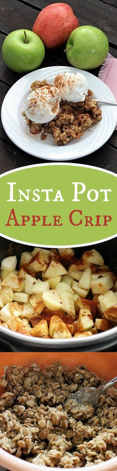 Insta Pot Apple Crisp, Recipe Treasures Blog