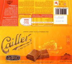 tablette de chocolat lait gourmand cailler lait nougat au miel