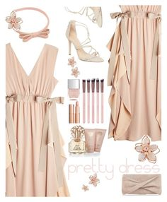 """pretty dress"" by katymill ❤ liked on Polyvore featuring RED Valentino, Fendi, Schutz, Reiss, Vince Camuto, NAKAMOL, Nails Inc., nude and dreamydresses"