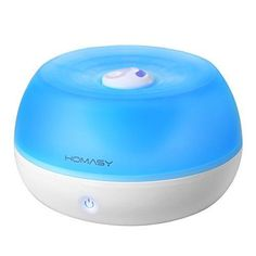 Homasy 800ml Ultrasonic Cool Mist Humidifier One Touch Button Control Auto Shut off Function for Office Home Bedroom Yoga Spa