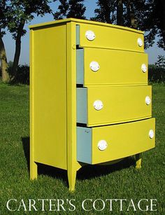 Surprise! Provence drawers with English Yellow!
