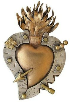 Heart pin/pendant by Thomas Mann of New Orleans