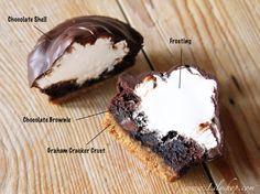 Lilyshop | Chocolate Shell Graham Brownies