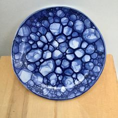 Blue Bubbles - Produced at Grayshott Pottery by Toby Hutchins