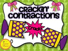 Crackin' Contractions! Christmas Interactive Notebook Acti
