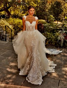 Bridal Gowns by Eve of Milady - Couture wedding dresses Style 4366 Eve Of Milady Wedding Dresses, Wedding Dress Styles, Bridal Dresses, Wedding Gowns, Bridesmaid Dresses, Wedding Bride, Bridal Dress Design, Bridal Style, Allure Couture