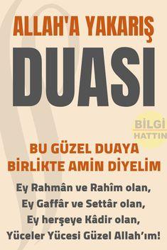 ALLAH'A YAKARIŞ DUASI - DUA DUALAR Islam, Pray, Faith, Architecture, Decor, Amigurumi, Health, Bakken, Arquitetura