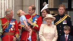 British Monarchy on Twitter:  Trooping the Colour 2015, June 13, 2015-Prince of Wales, Prince George, Duke and Duchess of Cambridge, Queen Elizabeth, Prince Harry, James, Viscount Severn