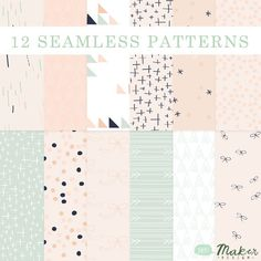 Bows, Arrows & Pretty Little Things - Seamless Patterns - Digital Scrapbook - Blog Backgrounds - Paper Pack