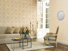 Empire papierpeint Palazzo, Vinyl, Oversized Mirror, Rugs, Creme, Furniture, Empire, Home Decor, Gold