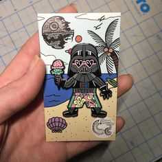 #Repost @crescent_creepers NEW IN THE SHOP! Vader on vacation pin link is in bio or visit http://ift.tt/2g5VXkZ (Posted by https://bbllowwnn.com/) Tap the photo for purchase info. Follow @bbllowwnn on Instagram for great pins patches and more!