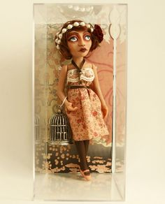 My sister makes amazing things and just opened an etsy store! Art Doll Flapper  Rose with Bird Cage and by MadeByMaryAnnette, $100.00