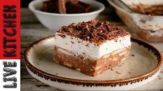 Τούρτα Κατσαρόλας | Ένα γλυκό ψυγείου που θα λατρέψετε | Chocolate pudding cake Live kitchen - YouTube Kitchen Living, Tiramisu, Cheesecake, Sweets, Ethnic Recipes, Desserts, Food, Live, Youtube