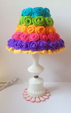 Crochet Rosette Lampshade - Free Tutorial!