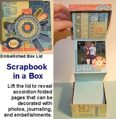 scrapbook in a box ...... chrissy idea for friends and family from Jack!