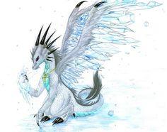 Ice Dragon by Mistress-of-Dragons.deviantart.com on @deviantART