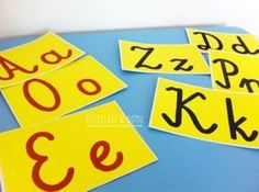 szorstkie litery - szablony Abc Activities, Maila, Montessori, Creations, Arts And Crafts, Letters, Fun, Kids, Home Decor
