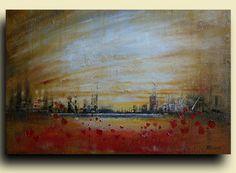 Original Landscape painting art by Tatjana Ruzin  by studiomosaic, $199.00