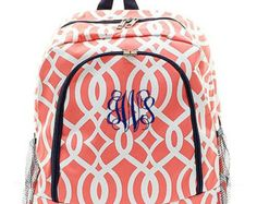 Personalized Backpack Monogrammed Bookbag Navy by GiftsHappenHere