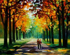 SUNNY AUTUMN - PALETTE KNIFE Oil Painting On Canvas By Leonid Afremov http://afremov.com/SUNNY-AUTUMN-PALETTE-KNIFE-Oil-Painting-On-Canvas-By-Leonid-Afremov-Size-30-x24.html?utm_source=s-pinterest&utm_medium=/afremov_usa&utm_campaign=ADD-YOUR