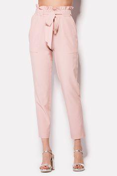 Купить укороченные брюки DEVI цвета розовой пудры в брендовом бутике TM CARDO