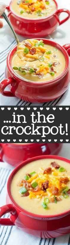 Sweet Potato Cauliflower Soup ...in the crock-pot! | Peas & Crayons