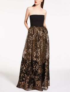 Max Mara AGUZZO bronze: Lurex jacquard dress.