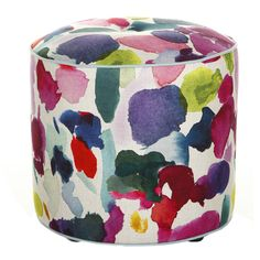 contemporary ottomans and cubes by Amara Living - Make this at home with paint drop cloths & RIT dye. Living Room Playroom, Kids Living Rooms, Cubes, Furniture Decor, Furniture Design, Bluebellgray, Paint Drop, Love Chair, Mid Century Modern Design