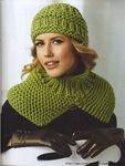 Мобильный LiveInternet Вязание спицами зеленой шапки и манишки для женщин: | ElenPo - Дневник ElenPo |