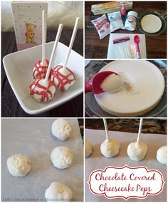 This delicious cheesecake pops recipe is so easy to make and it's sure to be a hit with the entire family! Even skip a step by purchasing a prepared cake. Cheesecake Pops, Cheesecake Recipes, Dessert Recipes, Yummy Treats, Sweet Treats, Yummy Food, Mini Cakes, Cupcake Cakes, Salty Cake
