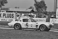 Dave Friedman captured the Hall/Penske Corvette Grand Sport at Sebring, 1964. Because only five Grand Sports were built, it had to compete against the latest mid-engine sports racers and prototypes, in the over 5 liter class.