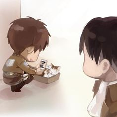 Eren likes his kitty