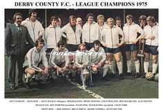 DERBY COUNTY F.C. TEAM CELEBRATION PRINT 1975 LEAGUE CHAMPIONS | eBay