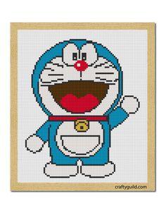 Doraemon Free Cross Stitch Pattern