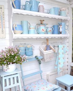 35 Awesome Shabby Chic Kitchen Designs, Accessories and Decor Ideas - For Creative Juice Decor, Shabby Chic Living Room, Shelves, Chic Kitchen, Shabby Chic Kitchen Shelves, Shabby Chic Curtains, Home Decor, Chic Home Decor, Shabby Chic Kitchen